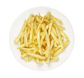 Food french fries in plate Stock Image