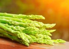 Fresh green asparagus in a garden Stock Photography