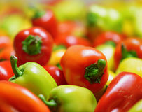 Fresh sweet peppers. Vegetable background Royalty Free Stock Photo