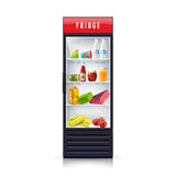 Food In Fridge Realistic Illustration Icon Stock Images