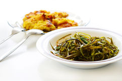 The food. Fried morning glory as of the Thailand Royalty Free Stock Images
