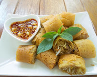 Food. Fried spring roll / por pia tord Stock Photos