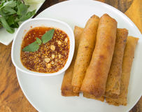 Food. Fried spring roll / por pia tord Stock Photography
