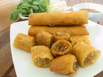 Food. Fried spring roll / por pia tord Royalty Free Stock Photos