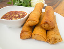 Food. Fried spring roll / por pia tord Royalty Free Stock Image