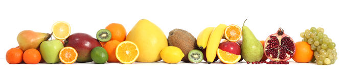 Food fruit. Lemon, appel, isolated Stock Photography