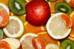 FOOD, FRUIT, MIX. Mix fruits background.Fresh fruits.Healthy eating, dieting concept, clean eating Stock Photography