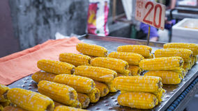 A food and fruit in Thailand's street market with fresh goods and product doing daily. Stock Photo
