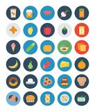 Food, Fruit and Vegetable Color Vector Icons Set that can easily modified or edit vector illustration