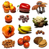 Food - fruits. Fruits collection mosaic on white background Royalty Free Stock Photos