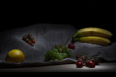 Food. Fruits and vegetables light painting Royalty Free Stock Image