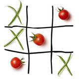 Food game Tic-tac-toe. Royalty Free Stock Photography