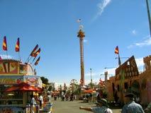The Mega Drop Tower, LA County Fair, Fairplex, Pomona, California stock photography