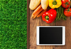 Food and gardening app Royalty Free Stock Images