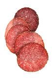 Food - german pepper salami sausage sliced Royalty Free Stock Photography
