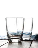 Glass of cows milk on the table Stock Photography