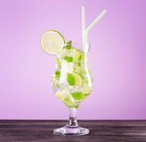Glass of mojito cocktail Royalty Free Stock Photos