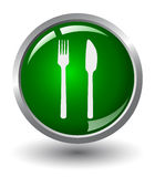 Food Glow Button Royalty Free Stock Photo