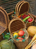 Food and goods on country fair Stock Image