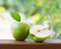 Green apples in the garden. Shallow DOF Royalty Free Stock Photos