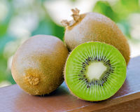 Green kiwi in the garden Royalty Free Stock Photography