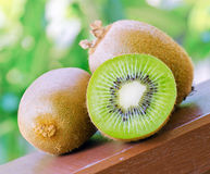 Green kiwi in the garden Stock Image
