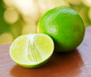 Green lime in a garden Royalty Free Stock Images