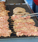 Food on the grill. Ready for eating Royalty Free Stock Photos