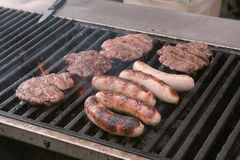Food on Grill Stock Images