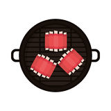 Food grilled with big rib Royalty Free Stock Image