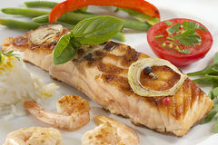 Food - Grilled salmon. Stock Photography