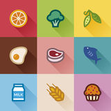 Food groups. Flat design Stock Photos
