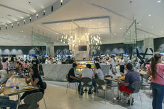 Food hall in the Siam Paragon is a shopping mall in Bangkok Stock Images