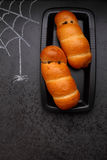 Food for Halloween: Sausages in the dough Royalty Free Stock Images