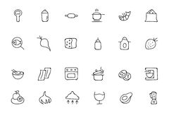 Food Hand Drawn Outline Vector Icons 7 Royalty Free Stock Image