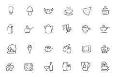 Food Hand Drawn Outline Vector Icons 9 Stock Photos