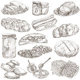 Food - hand drawn pack. Original sketches. Stock Photography