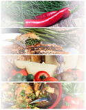 Food Headers Collage Stock Images