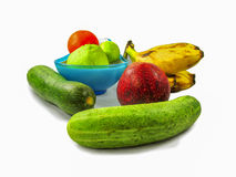 Food for health. Healthy food green fruits isolated Stock Photography
