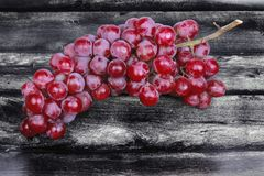 Red seedless grapes,The red grape seeds and galling. Royalty Free Stock Photo