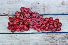 Red seedless grapes,The red grape seeds and galling. Royalty Free Stock Photography