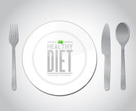 Food healthy diet concept illustration design. Over grey Royalty Free Stock Photography