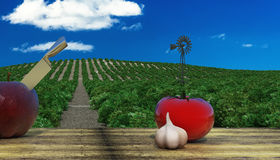 Food for a healthy diet Stock Images