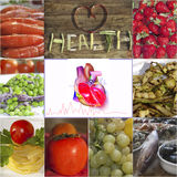Food and healthy heart Royalty Free Stock Image