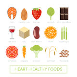 Food for healthy heart Stock Photos