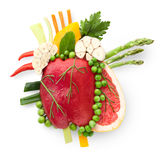 Food for heart. Royalty Free Stock Image