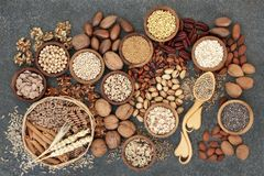 Food with High Fiber Content royalty free stock photo