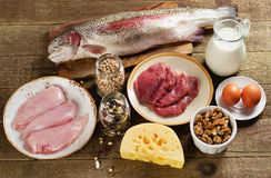 Food high in protein Stock Photos