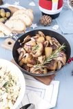 Food for the holiday of Christmas and New Year in Russia. Festiv royalty free stock photo