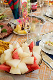 Food on the holiday table Stock Photography